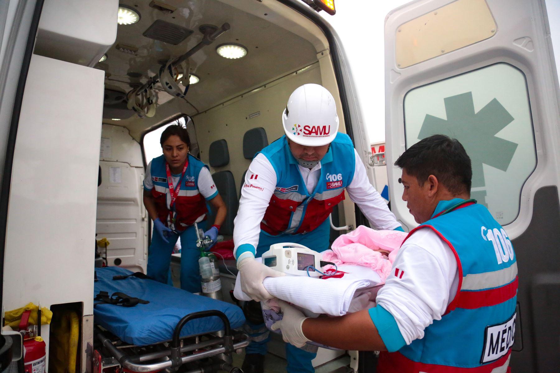 Dos bebés de cuatro y siete meses ingresaron por emergencia al Instituto Nacional de Salud Niño (INSN) San Borja, otro fue trasladado al INSN Breña, mientras que el cuarto bebé ingresó al hospital Dos de Mayo. Foto: ANDINA/Difusión