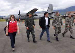 Presidente del Consejo de Ministros, Vicente Zeballos, en visita de trabajo en Chanchamayo, región Junín.