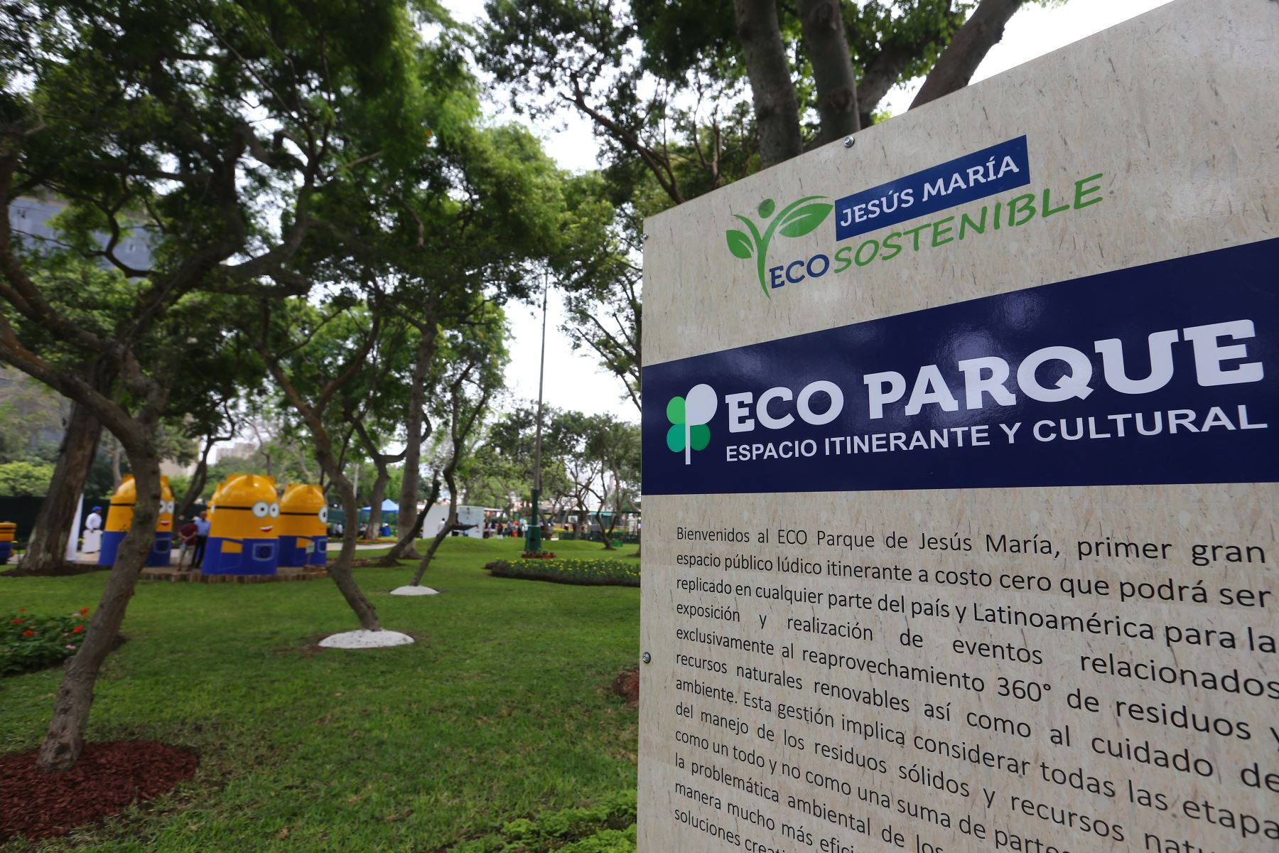 Ministra de Ambiente Fabiola Muñoz,inaugura Ecoparque en Campo de Marte,Jesus Maria.Foto:ANDINA/Héctor Vinces.