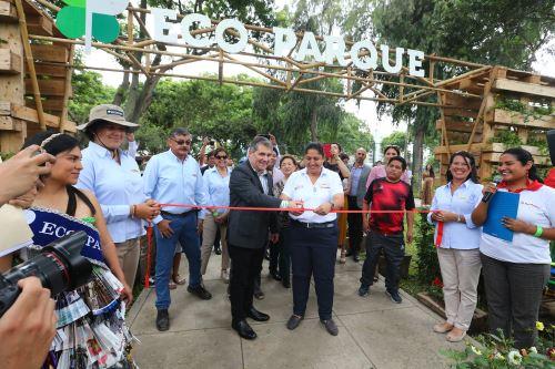 Ministra de Ambiente inaugura Eco parque  Jesús María