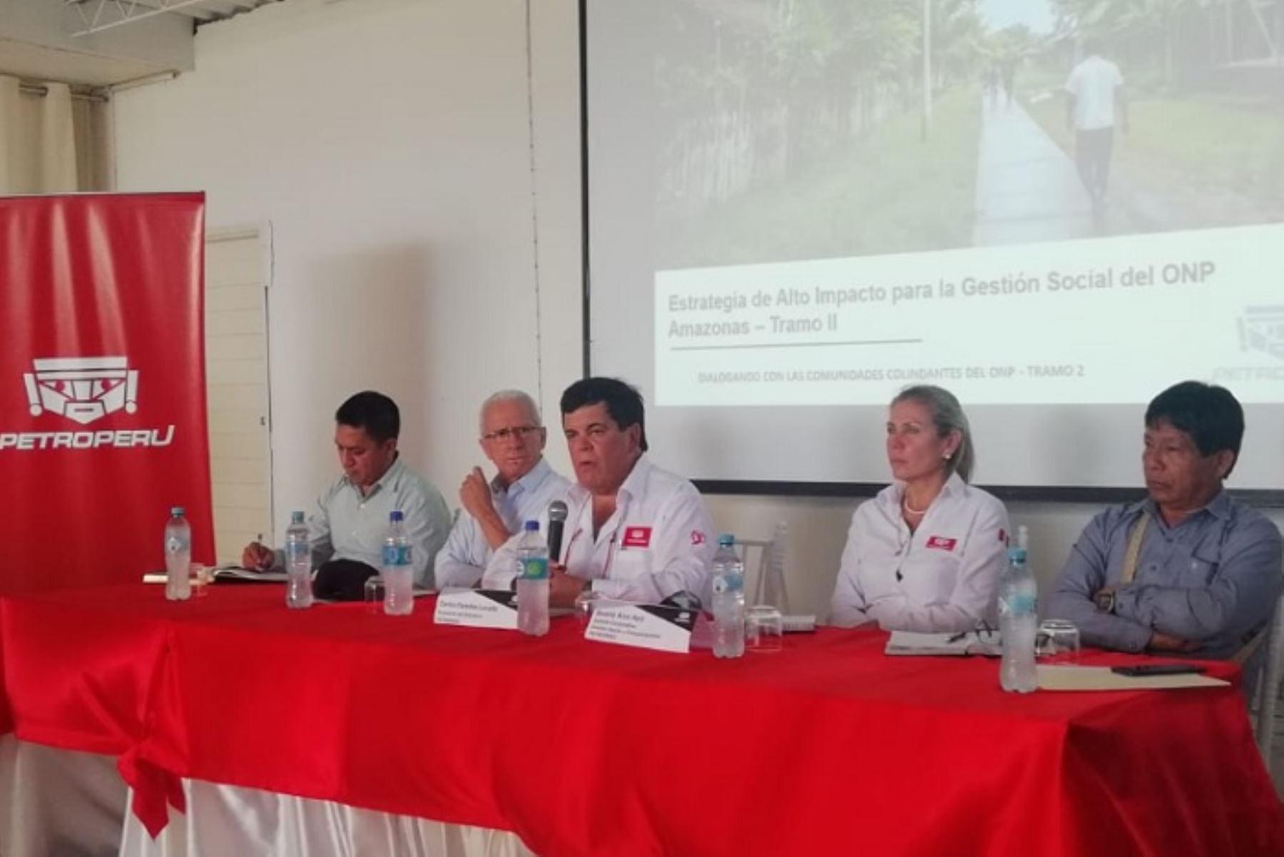 Amazonas: presidente de Petroperú se reunió con comunidades nativas en Bagua