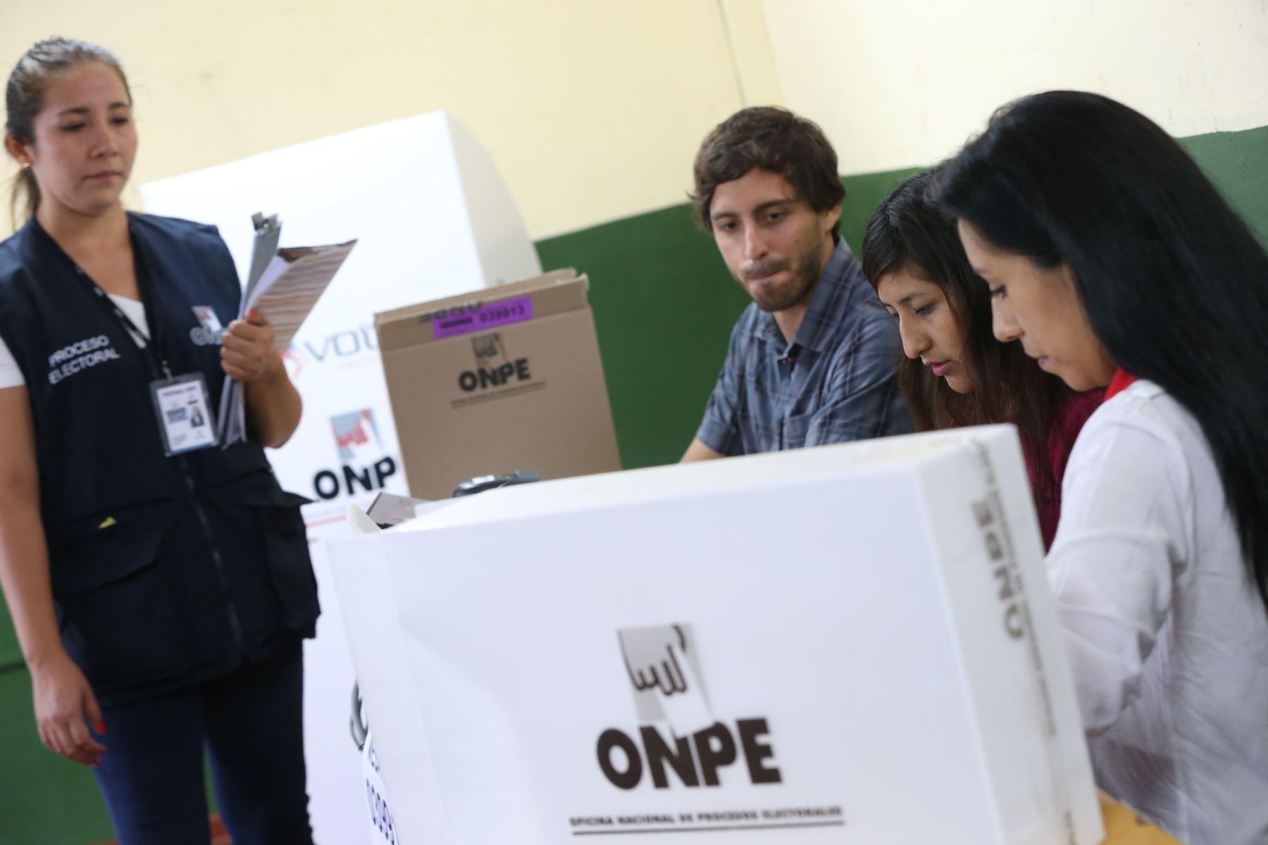 Elecciones 2020: miembros de mesa no trabajarán el lunes 27 de enero. Foto: ANDINA/archivo.