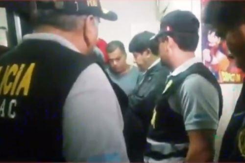 """Policía desarticula organización criminal """"Los Reyes de los Cheques"""". Foto: ANDINA/capturaTV."""