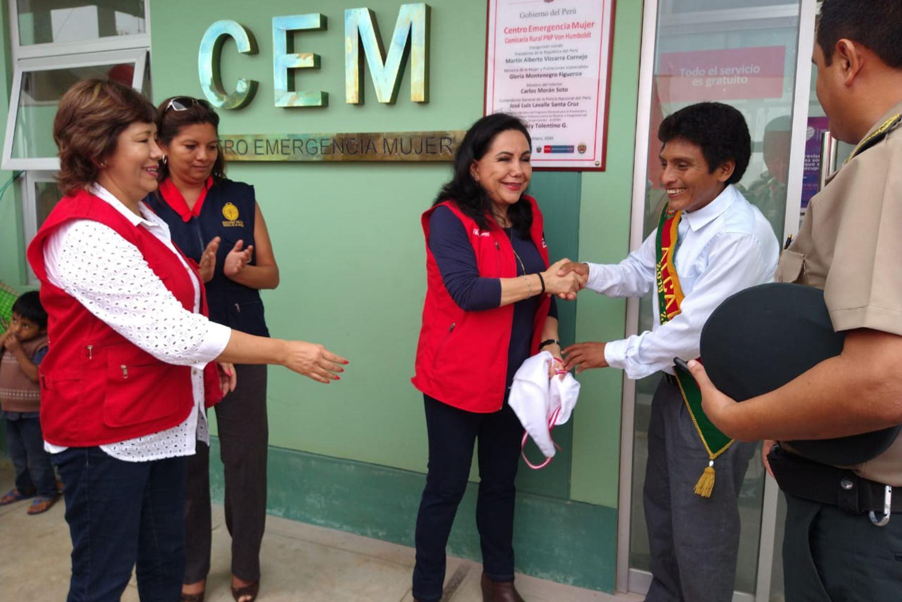 Ministerio de la Mujer inaugura servicio de atención y prevención de la violencia de género en Pucallpa, capital de Ucayali.