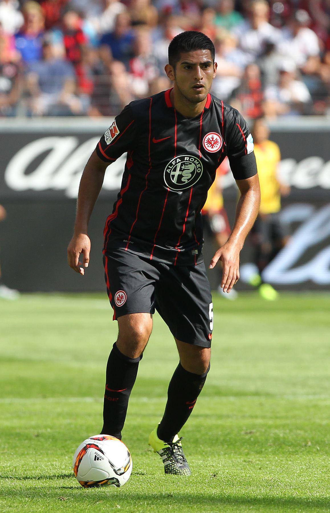 En agosto de 2012, se hace oficial su traspaso al Eintracht Frankfurt de Alemania donde permanecería  hasta junio del  2016. FOTO: Difusión