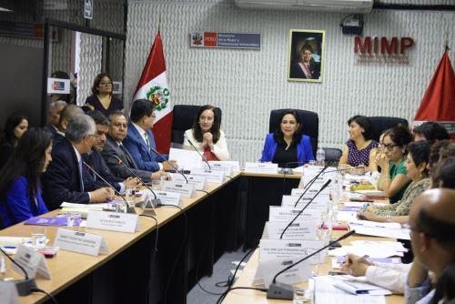 Primers sesión del año de la comisión multisectorial de alto nivel que impulsa   un sistema de justicia con las mujeres que sufren de violencia