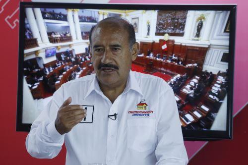 Andrés Alcántara, candidato presidencial de Democracia Directa. Foto: ANDINA/Eddy Ramos.