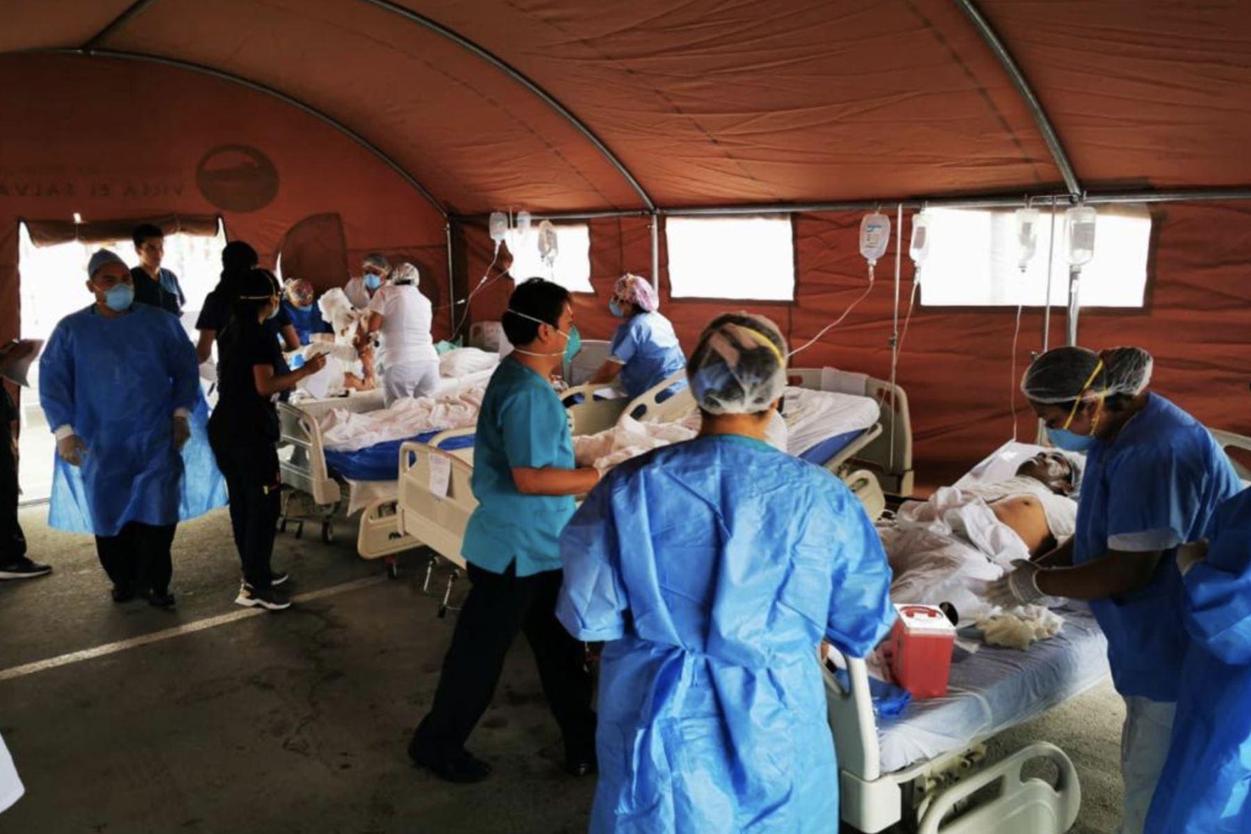 Mas de 30 heridos son atendidos de  emergencia por quemaduras de grado II y III. 07 niños son trasladados al hospital del niño. Foto:ANDINA/Minsa