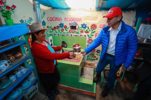 Presidente Vizcarra visita el programa Haku Wiñay de FONCODES en  La Libertad