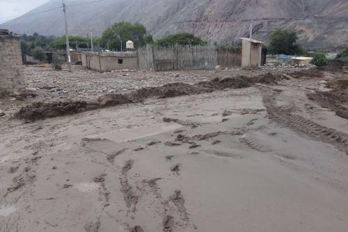 Diversos poblados de Caravelí, en Arequipa, fueron afectados por la caída de un huaico debido a las lluvias intensas. ANDINA/Difusión