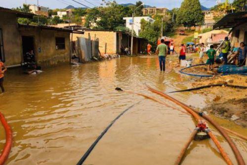 Lluvias intensas en Tarapoto dejan 3 heridos, 59 familias damnificadas y 111 familias afectadas; además de cuantiosos daños materiales. ANDINA/Difusión