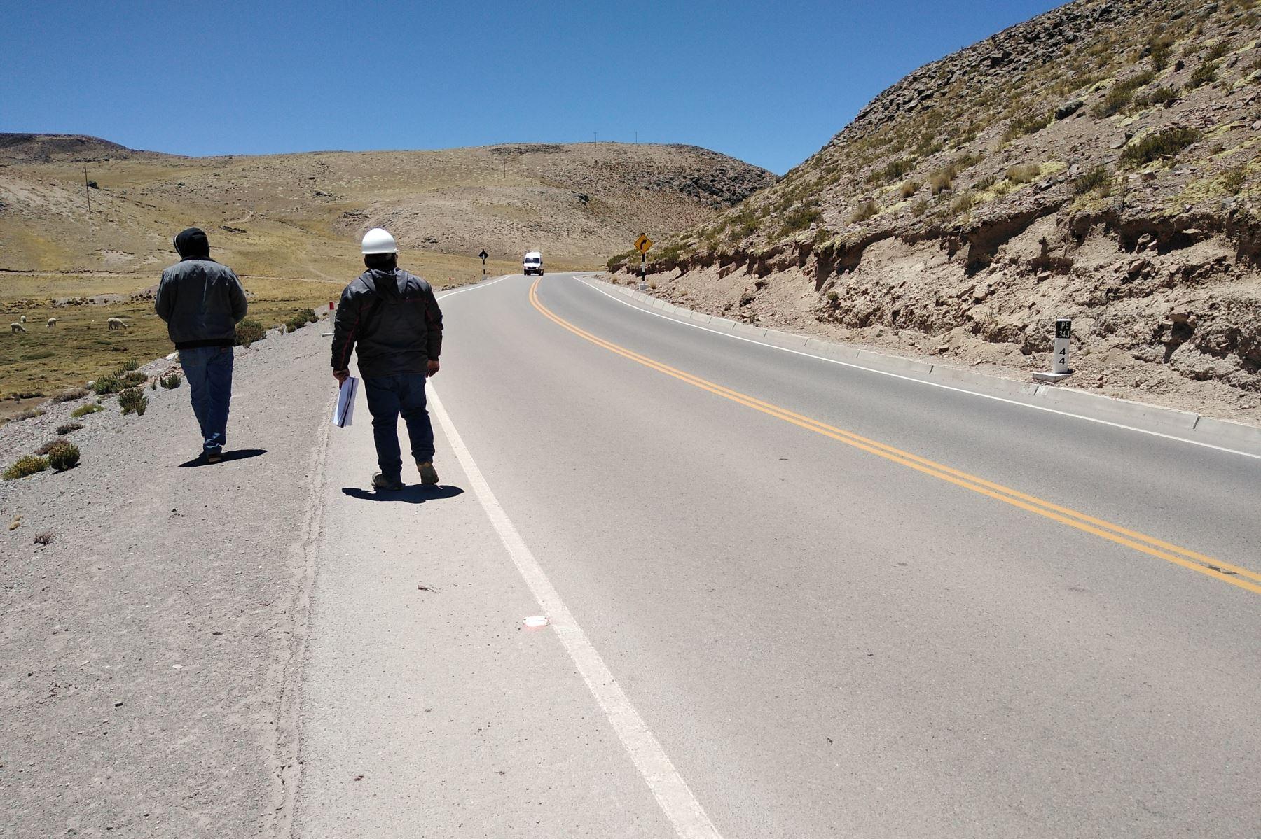 Contraloría detecta perjuicio económico en obras ejecutadas en carretera ubicada en Arequipa. ANDINA/Difusión