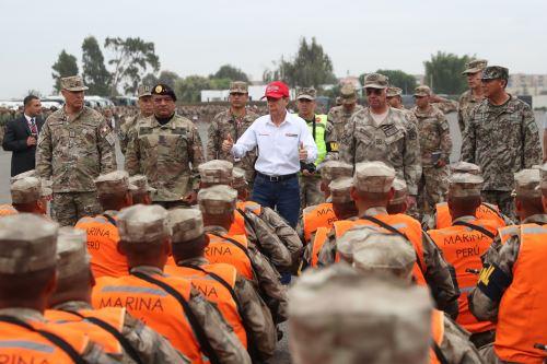 Desplazamiento del personal de las Fuerzas Armadas por las Elecciones Congresales Extraordinarias 2020