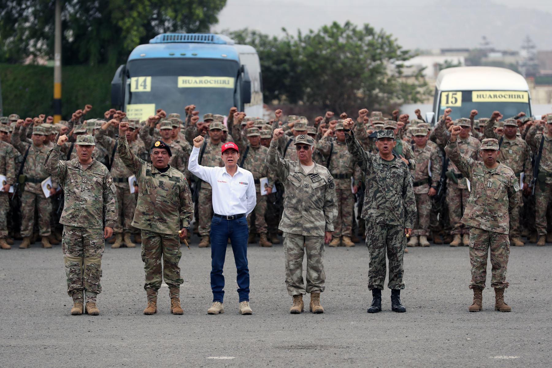 Despliegue del personal de las fuerzas armadas por las elecciones congresales extraordinarias 2020. Foto: ANDINA/MINDEF