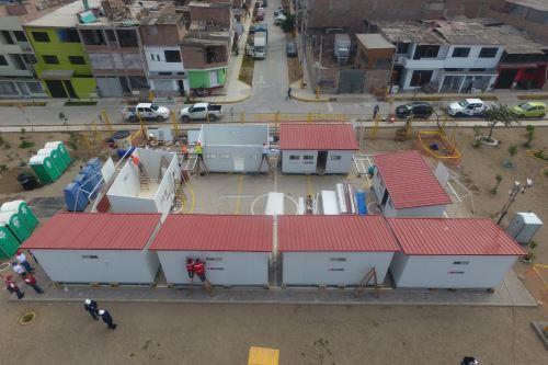 Ministerio de vivienda termina hoy la  instalación de módulos de vivienda temporal para las familias damnificadas de Villa El Salvador