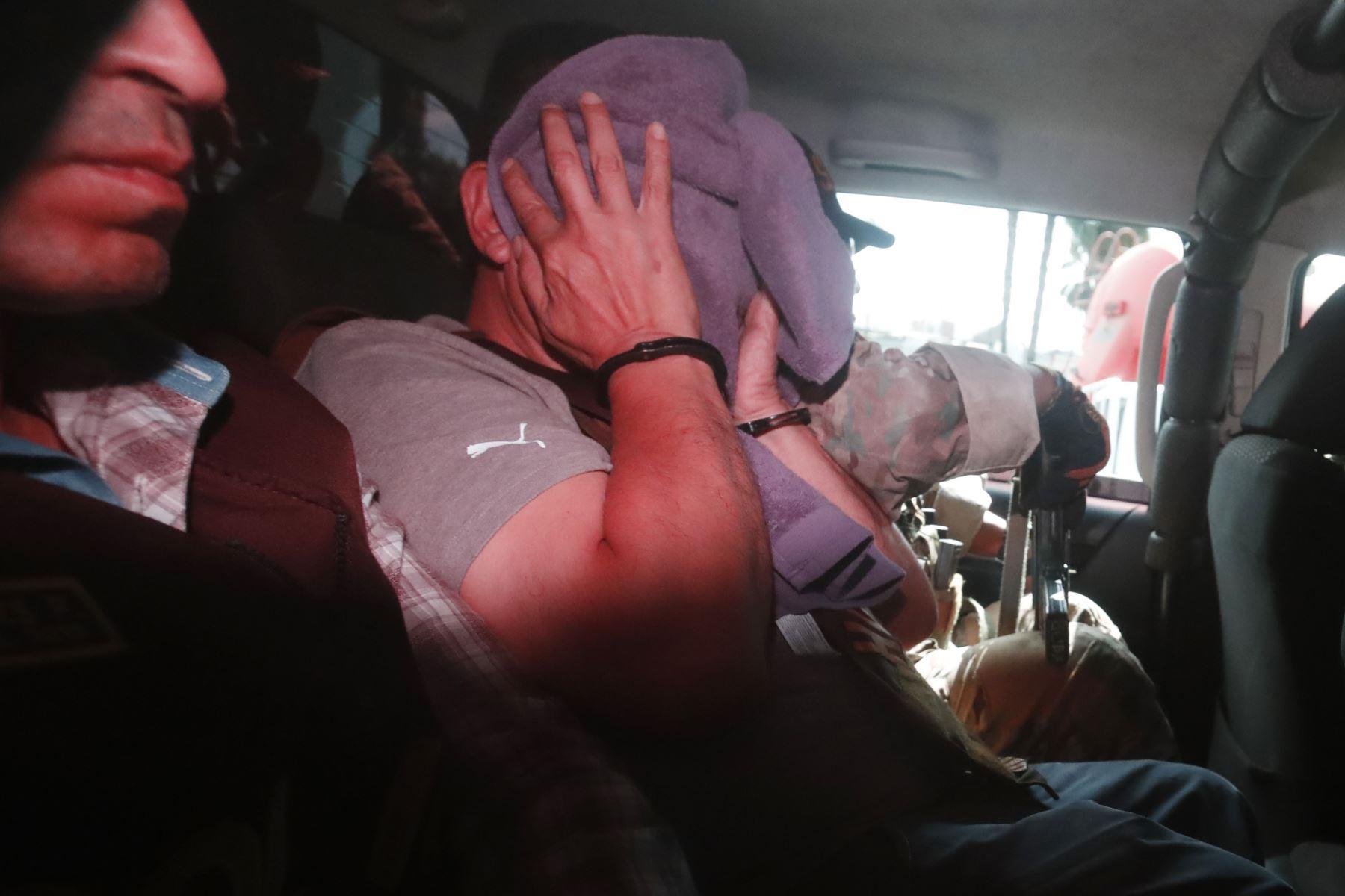 """Ex alcalde del Callao Juan Sotomayor es detenido por la policía por el caso Eslimp""""Aporte fantasma"""".  Foto: ANDINA/Renato Pajuelo"""