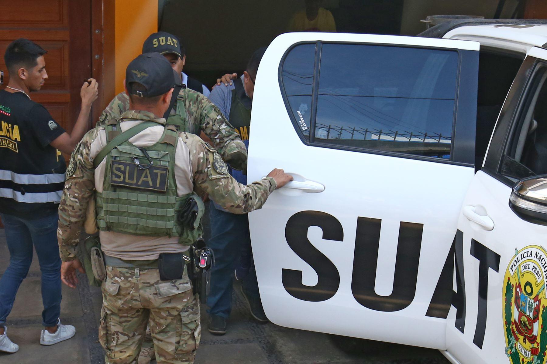 """Ex alcalde del Callao Juan Sotomayor es detenido por la policía por el caso Eslimp""""Aporte fantasma"""". Foto: ANDINA/Vidal Tarqui"""