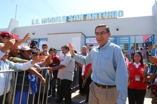 Presidente Vizcarra emite su voto en las Elecciones Congresales Extraordinarias 2020