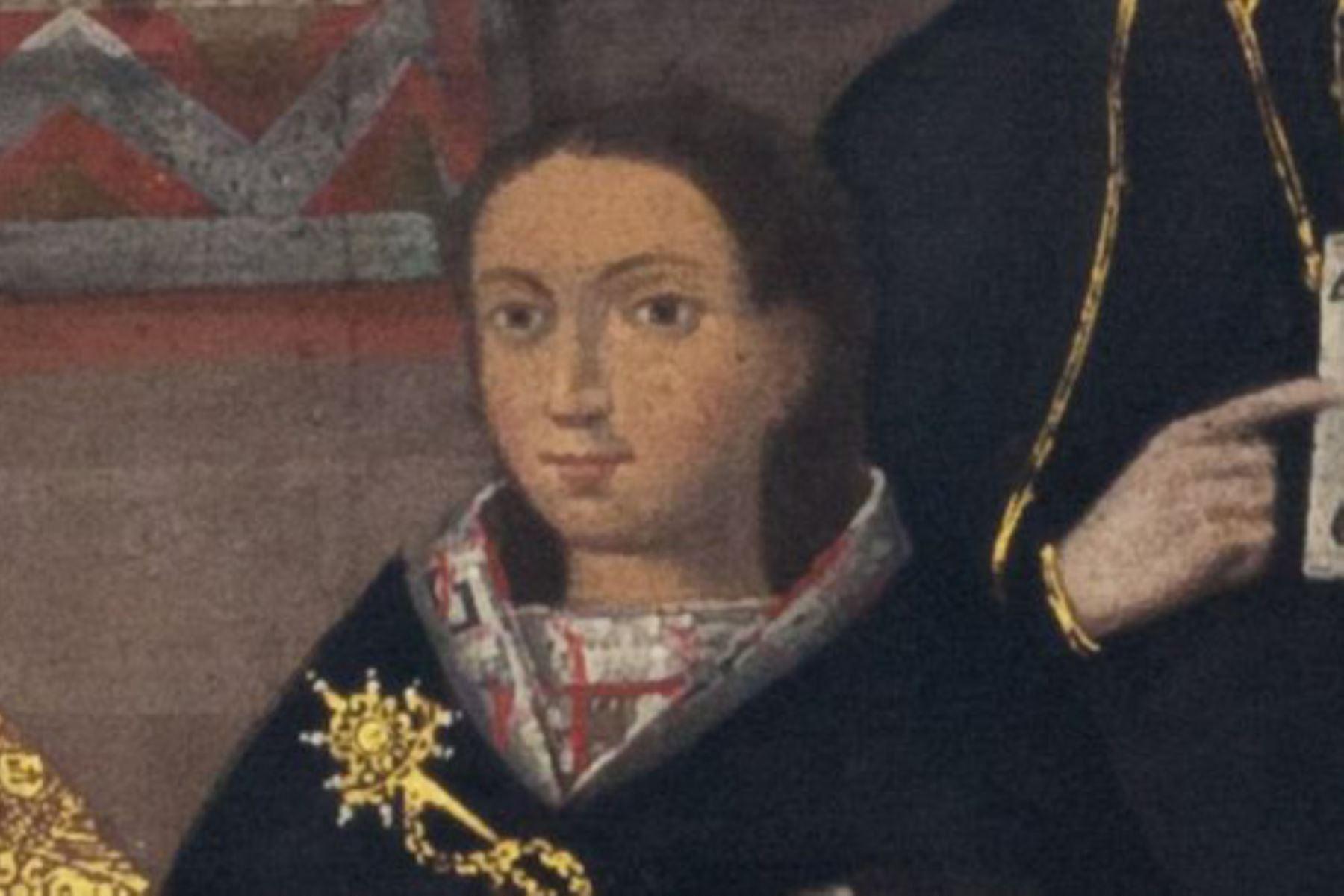 El matrimonio de la princesa inca Beatriz Clara Coya fue tan importante que la boda quedó representada en varios cuadros. Imagen: Museo Pedro de Osma/BBC Mundo