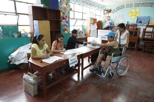 Jornada electoral extraordinaria del domingo 26 de enero. Foto: ANDINA/Renato Pajuelo.
