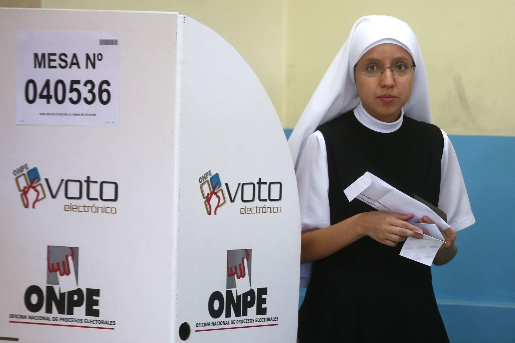 Elecciones congresales extraordinarias 2020. Foto: Foto: ANDINA/Vidal Tarqui