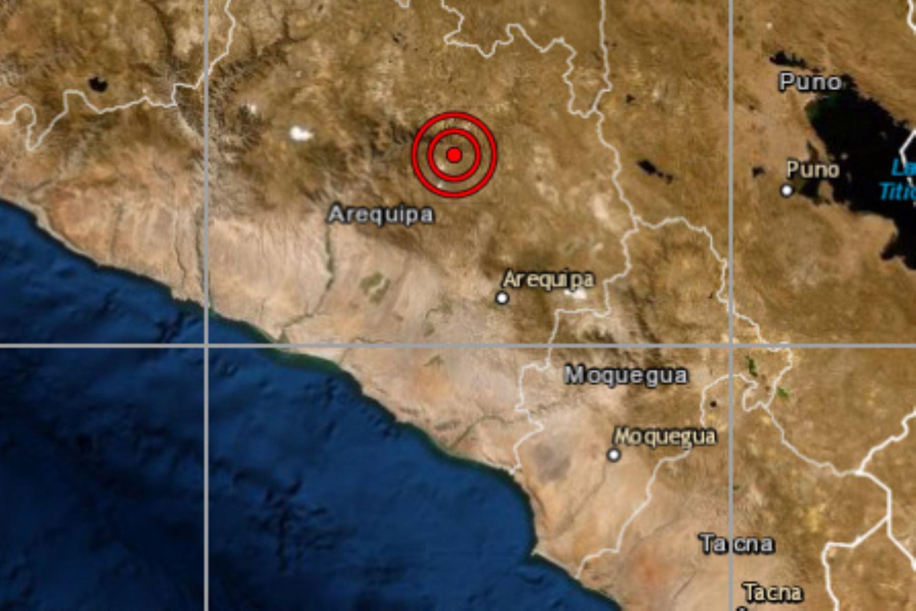 A las 17:22 horas se registró un sismo de magnitud 3.3 a tres kilómetros al sureste de Pinchollo, en la provincia arequipeña de Caylloma.