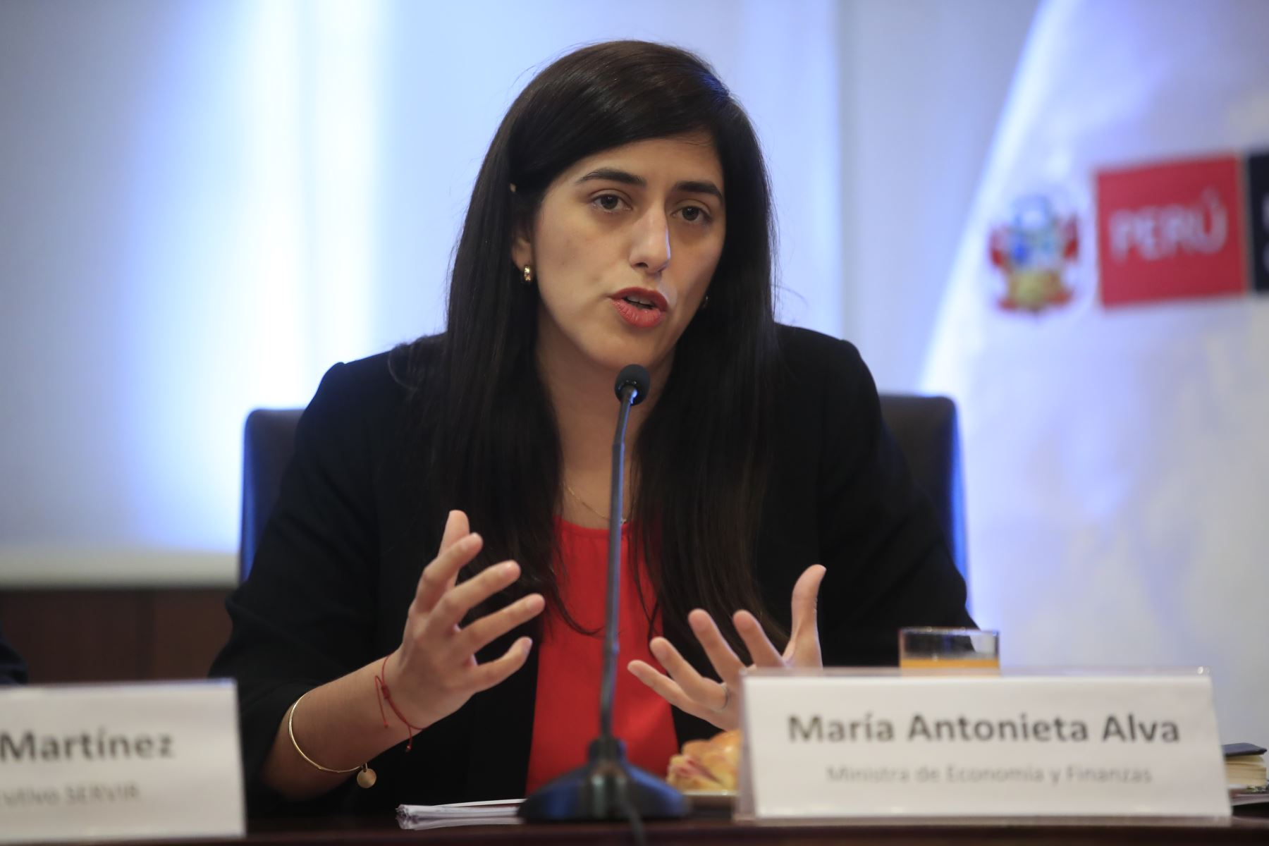 MInistra de Economía y Finanzas, María Antonieta Alva. ANDINA/Juan Carlos Guzmán