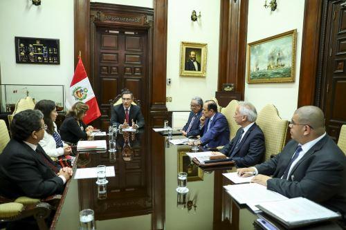 Presidente Vizcarra lideró sesión del Consejo para la Reforma del Sistema de Justicia