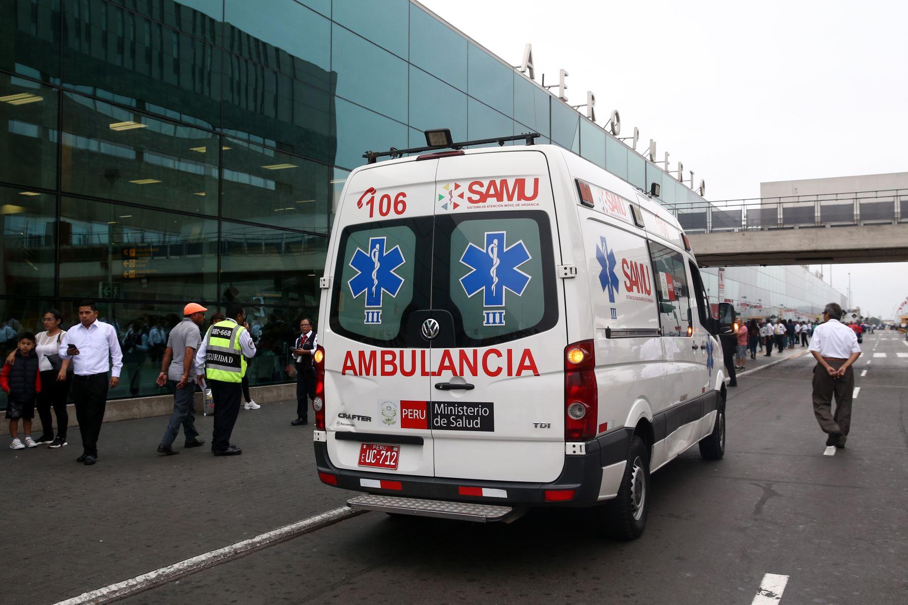 Ministerio de Salud informa medidas preventivas en el Aeropuerto frente al Coronavirus y explica protocolos de atención. Foto: ANDINA/Vidal Tarqui
