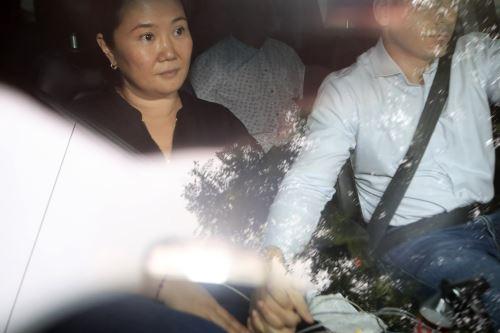 Keiko Fujimori se dirige a sala penal