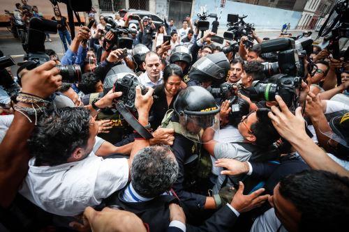 Keiko Fujimori llega a sala penal