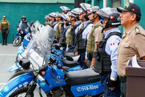 Municipalidad de Lima y Policía presentan plan de patrullaje integrado en moto. Foto: ANDINA/Difusión.