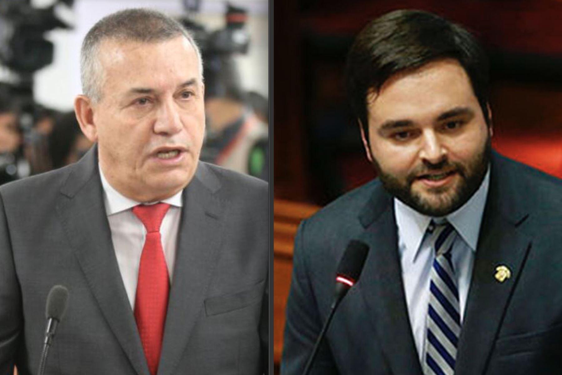 Daniel Urresti, de Podemos Perú, y Alberto de Belaunde, del Partido Morado, son los congresistas más votados en Lima.