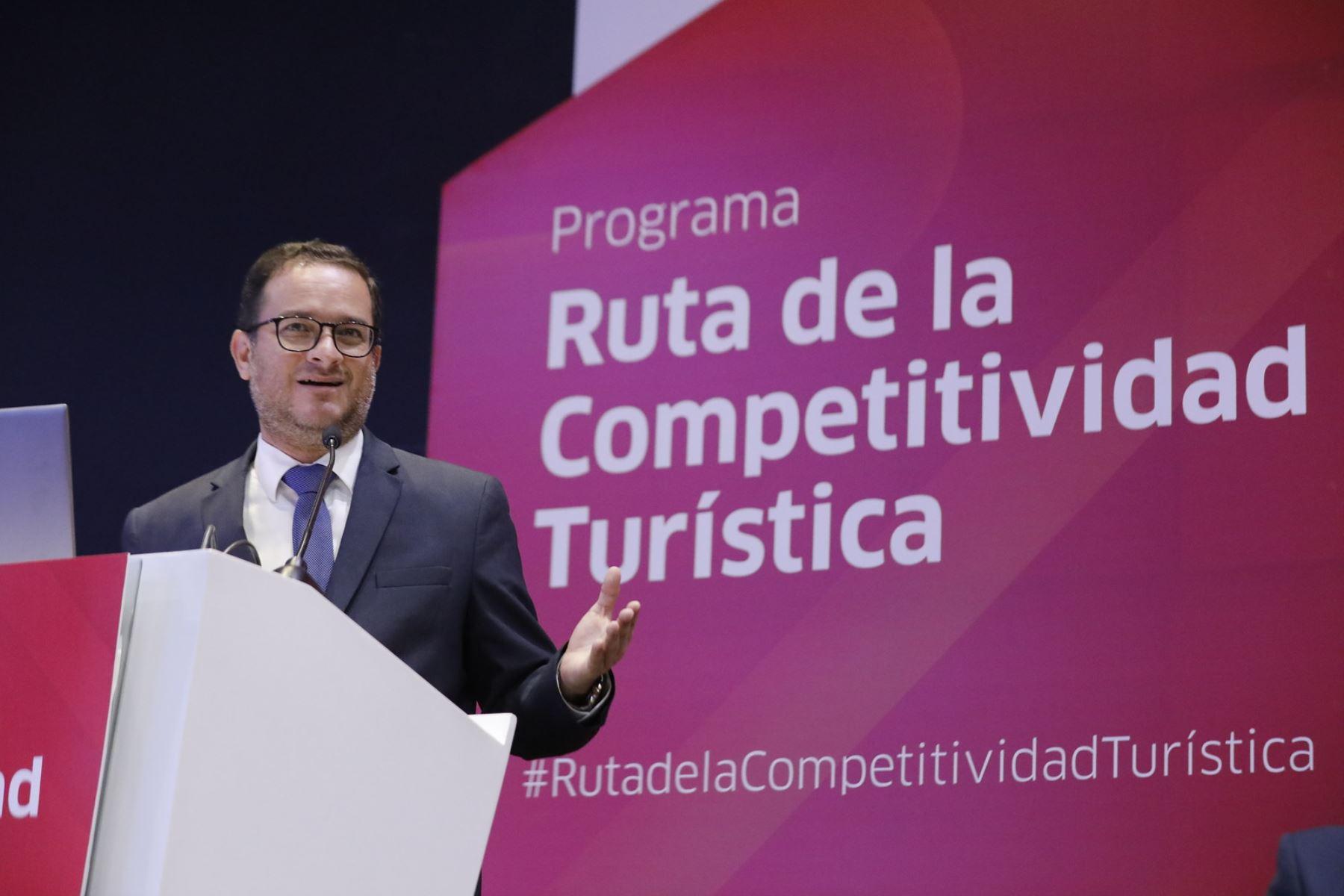 Ministro de Comercio Exterior y Turismo, Edgar Vásquez. Foto: Cortesía.