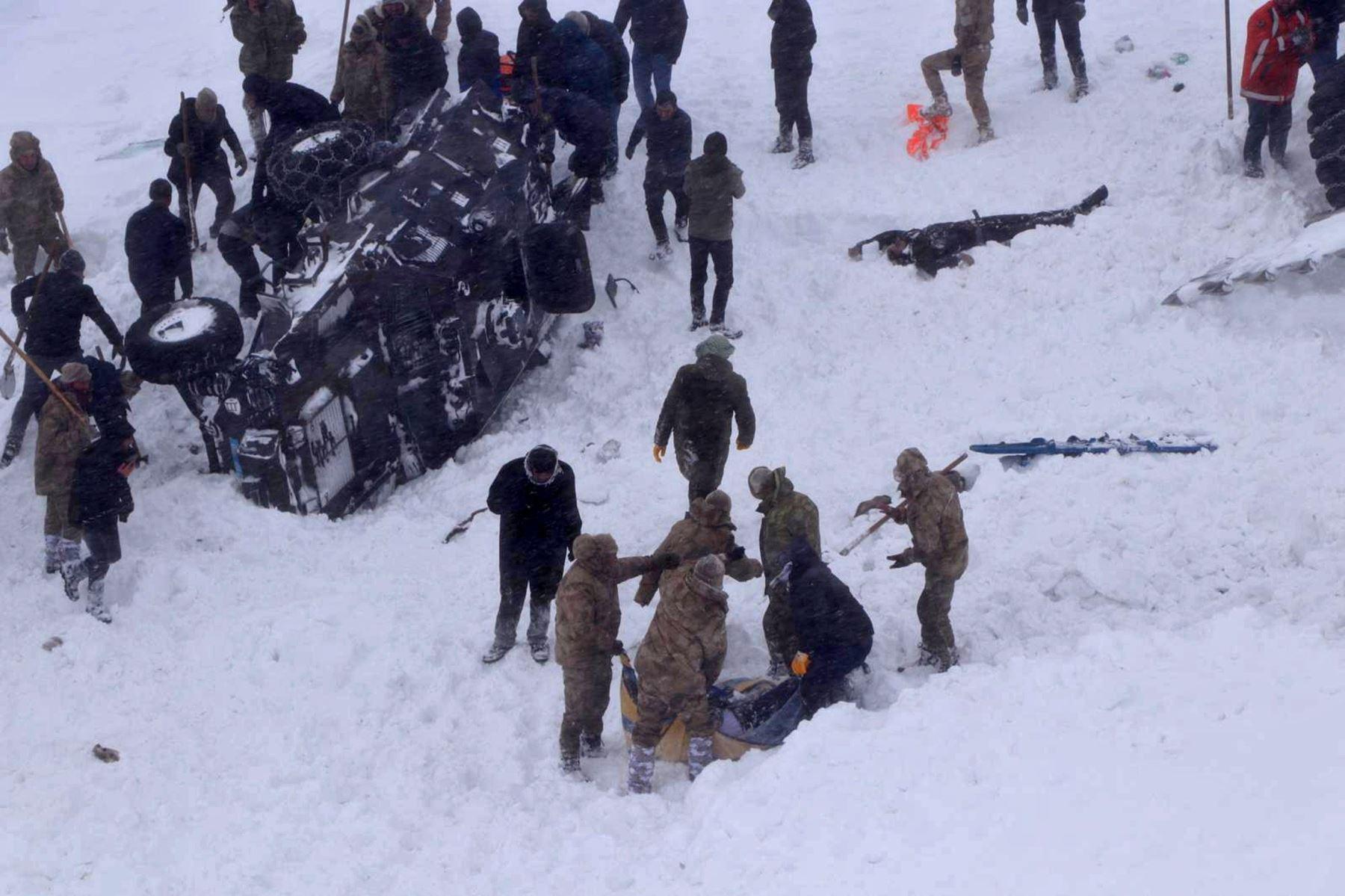 Avalancha en Turquía deja 21 muertos. Foto: EFE