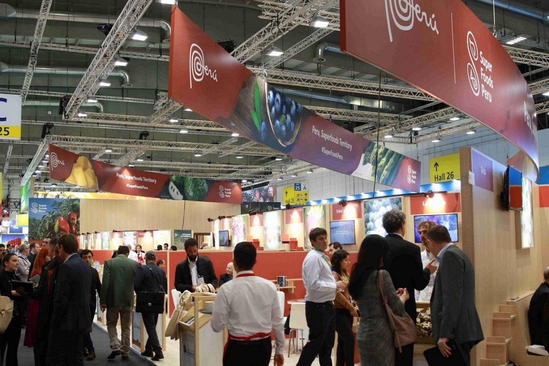 Pabellón de Perú en feria Fruit Logistica 2020 en Berlín, Alemania. Foto: Cortesía.