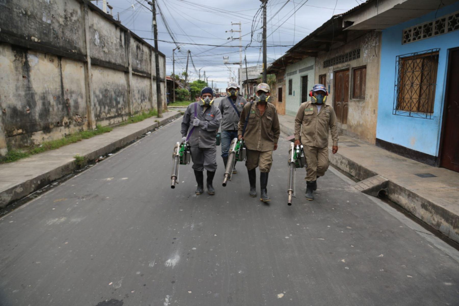 Loreto: refuerzan campaña de fumigación en Iquitos para enfrentar los vectores del dengue