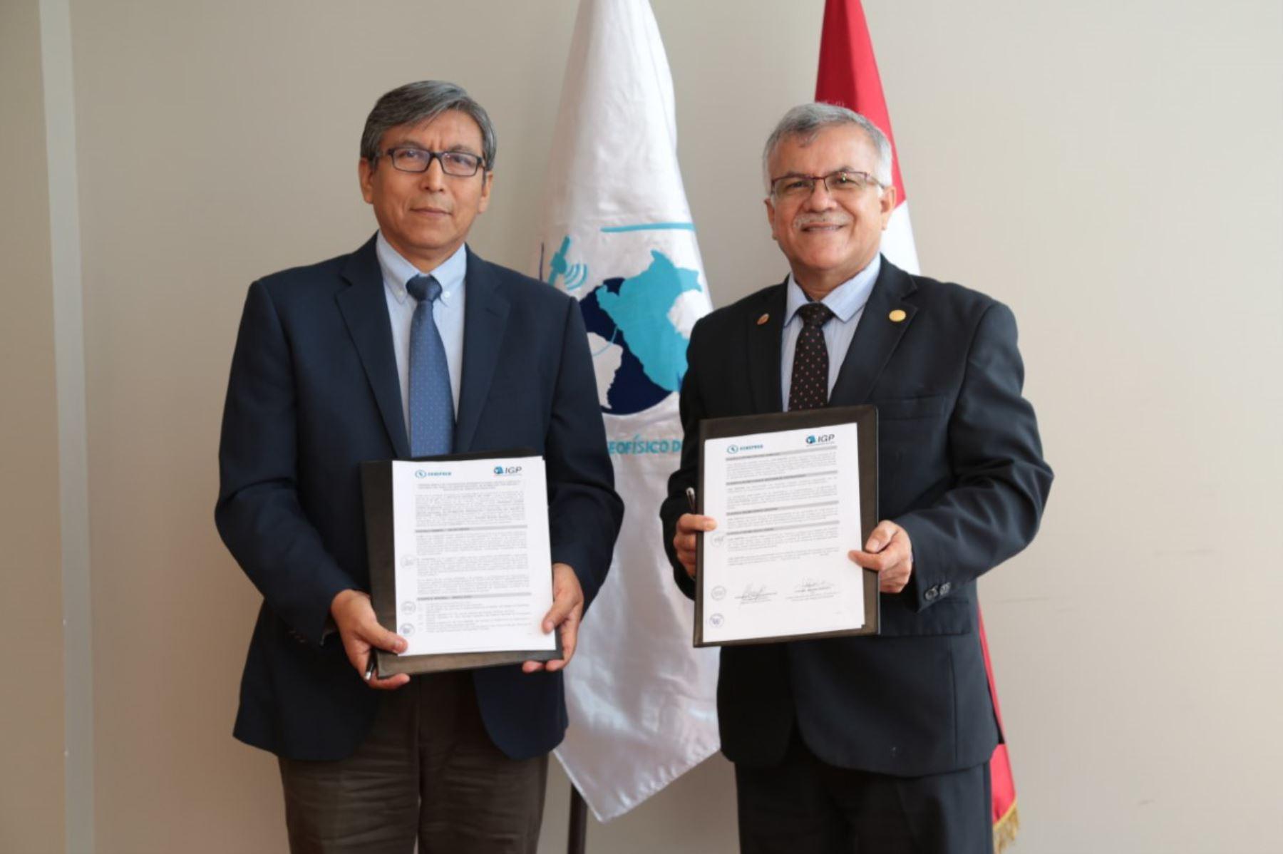 IGP y Cenepred acuerdan fortalecer prevención ante riesgo de desastres naturales