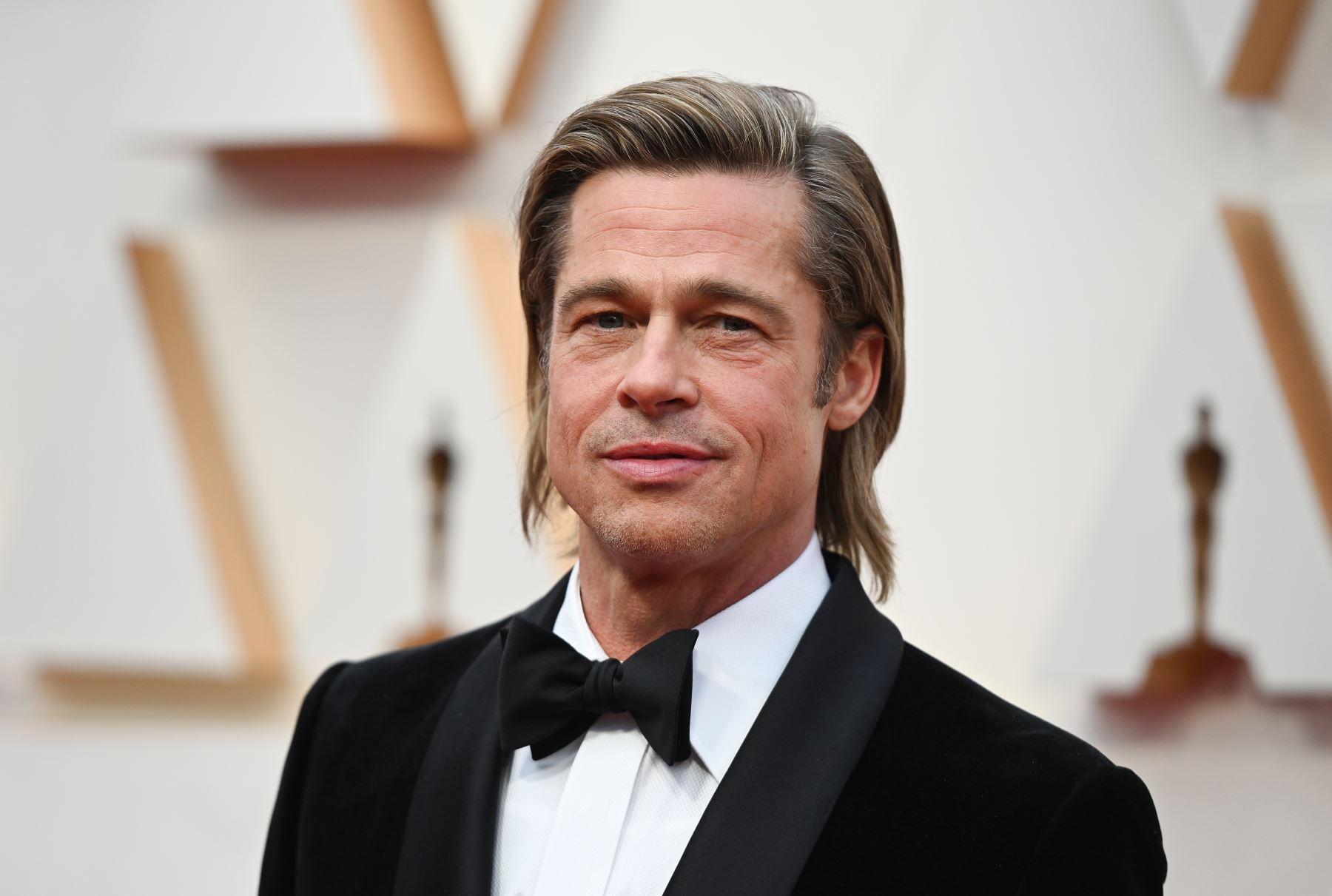 El actor estadounidense Brad Pitt llega a los 92o Oscar en el Dolby Theatre de Hollywood, California. Foto: AFP