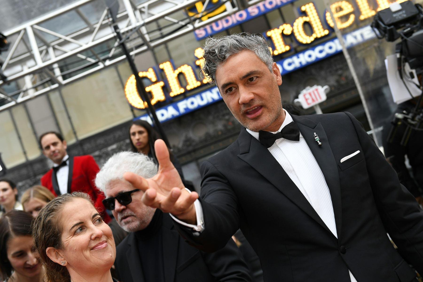 El director y actor de Nueva Zelanda, Taika Waititi, llega para los 92o Oscar en el Dolby Theatre de Hollywood, California. Foto: AFP