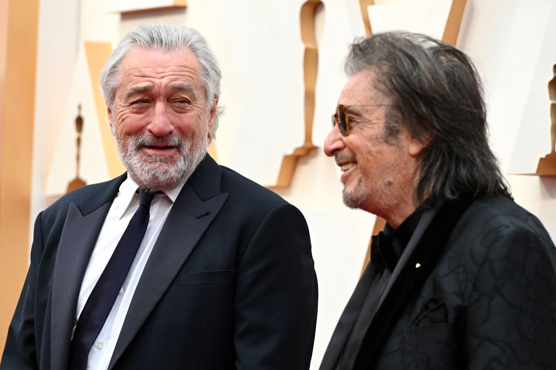 Los actores estadounidenses Robert De Niro  y Al Pacino llegan para los 92o Oscar al Dolby Theatre en Hollywood, California. Foto: AFP