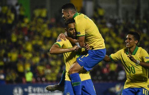 Matheus Cunha celebra el triunfo de Brasil que le dio el boleto para los Juegos Olímpicos Tokio 2020