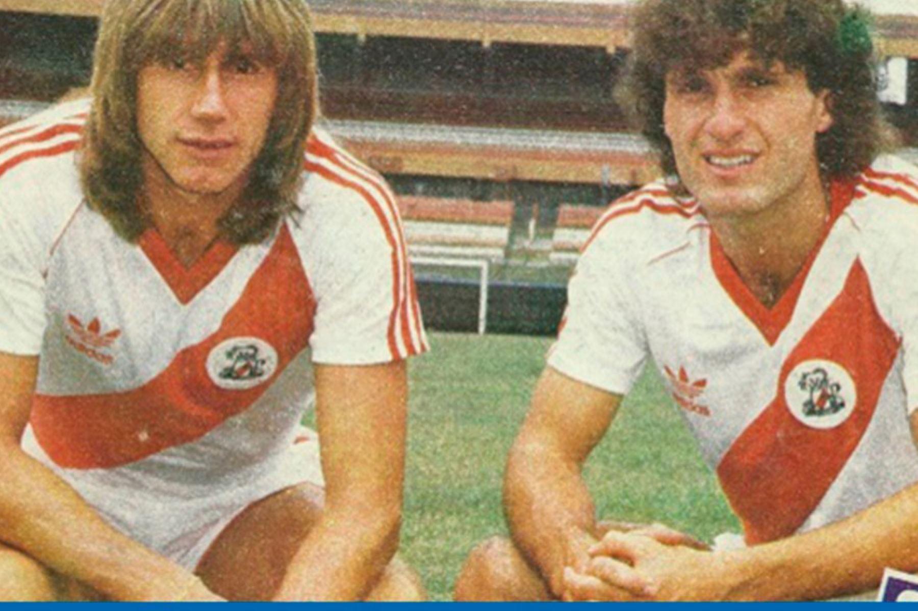 Gareca junto a Ruggeri cuando jugaba para el River Plate. Foto: Difusión