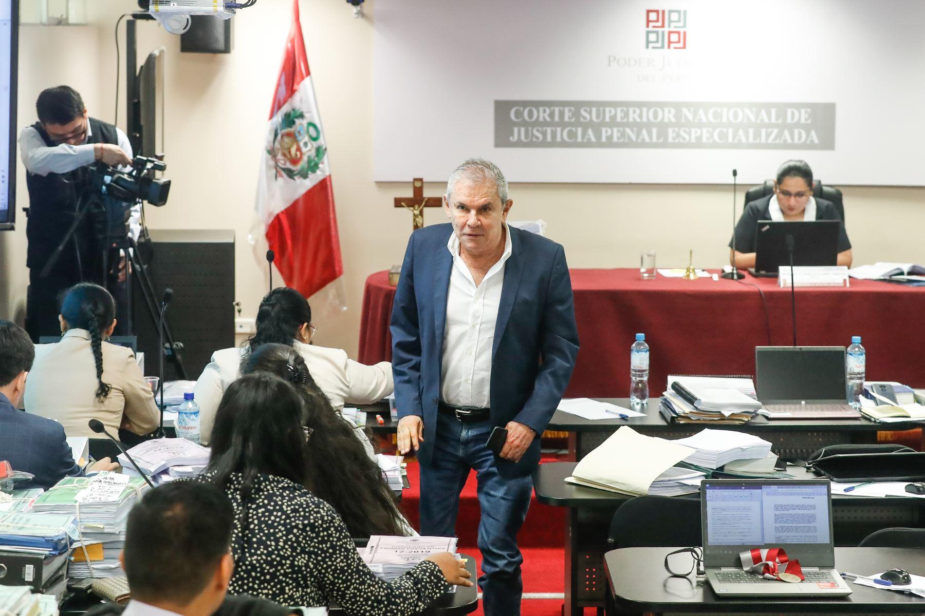 Exalcalde de Lima Luis Castañeda Lossio, durante la audiencia de requerimiento de prisión preventiva por 36 meses en su contra planteado por el Ministerio Público.Foto: ANDINA/Renato Pajuelo