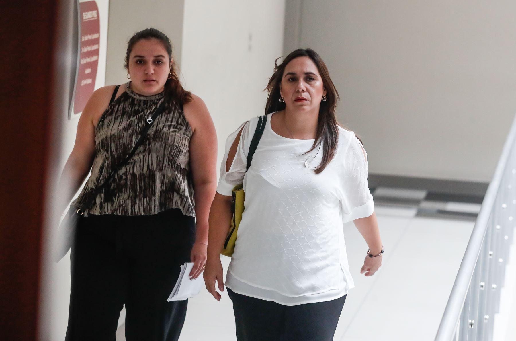 Giselle Zegarra en audiencia de prisión preventiva. Foto: ANDINA/Renato Pajuelo