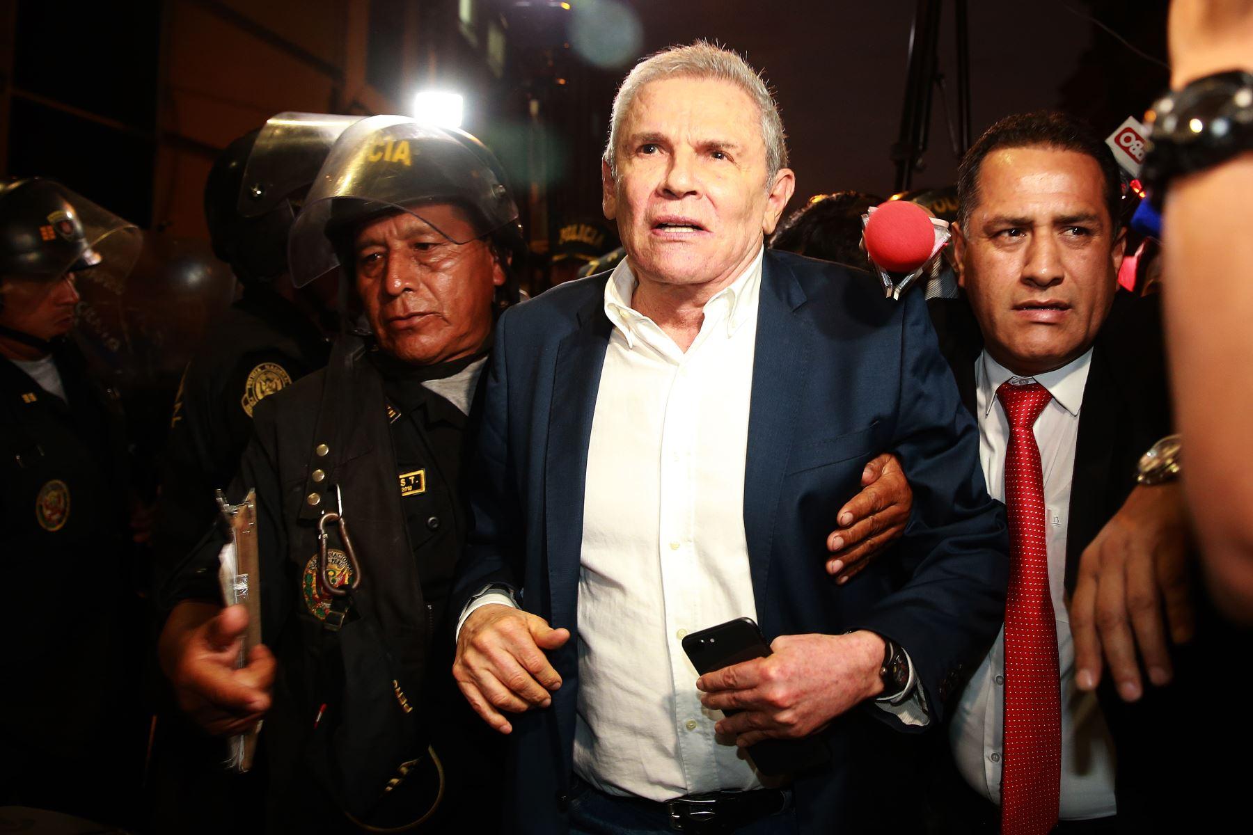 Exalcalde de Lima Luis Castañeda Lossio, durante la audiencia de requerimiento de prisión preventiva por 36 meses en su contra planteado por el Ministerio Público.Foto: ANDINA/Jhony Laurente