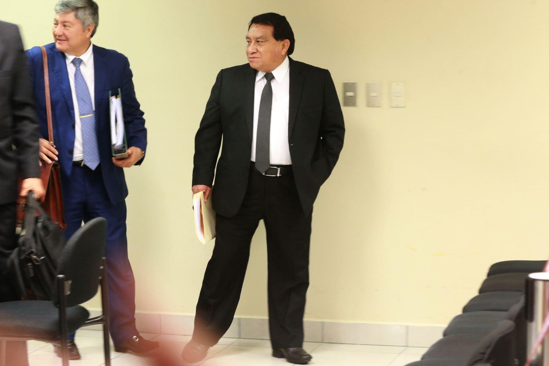 Excongresista José Luna , durante la audiencia de requerimiento de prisión preventiva por 36 meses en su contra planteado por el Ministerio Público.Foto: ANDINA/Jhony Laurente