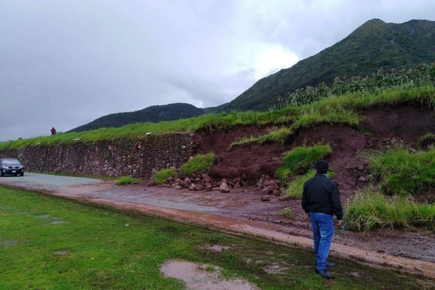 Lluvias intensas provocan la caída de andenes inca en distrito cusqueño de Zurite. ANDINA/Difusión