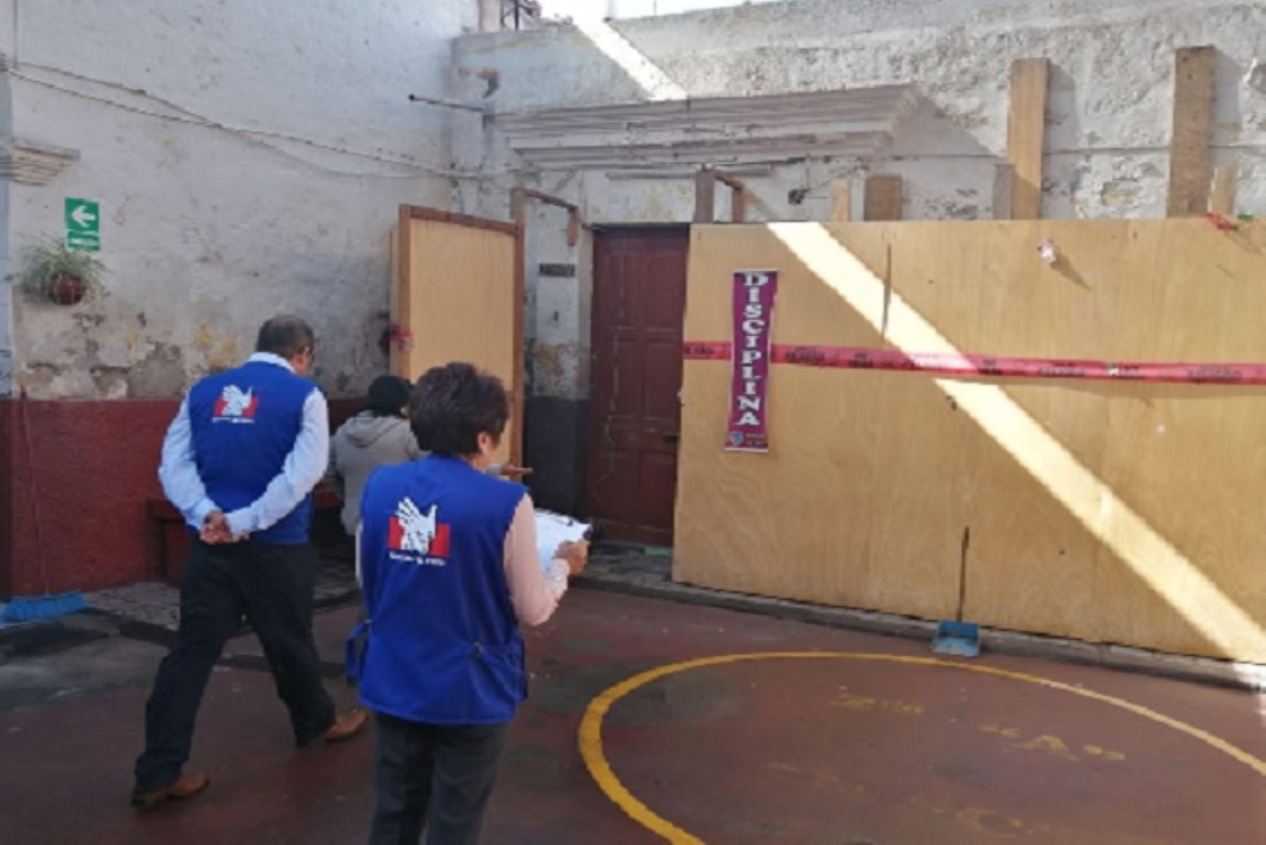 Ante la proximida del Año Escolar 2020, la Defensoría del Pueblo de Arequipa inició la supervisión de colegios.