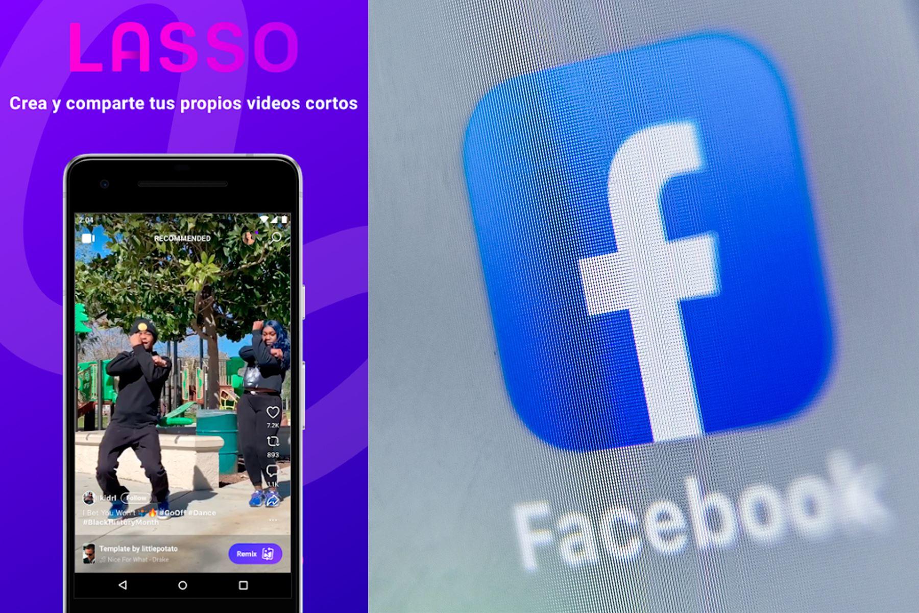 Lasso, la versión de Facebook de TikTok, ya se encuentra disponible en Android e IOs para usuarios peruanos. AFP